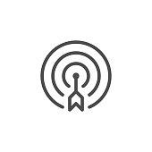 Aim line icon
