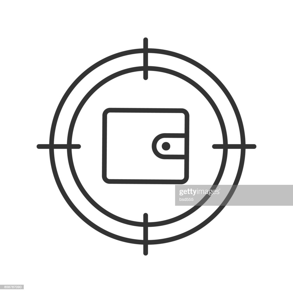 Aim on wallet icon