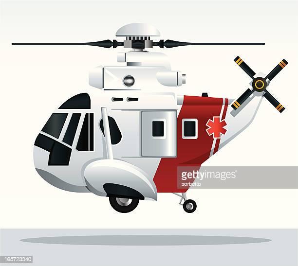 Elicottero E Ambulanza : Illustrazioni e cartoni animati stock di elicottero