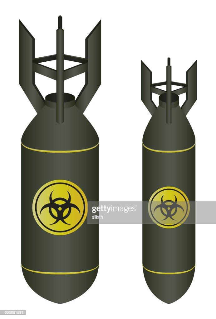 air bomb drop with biohazard logo vector