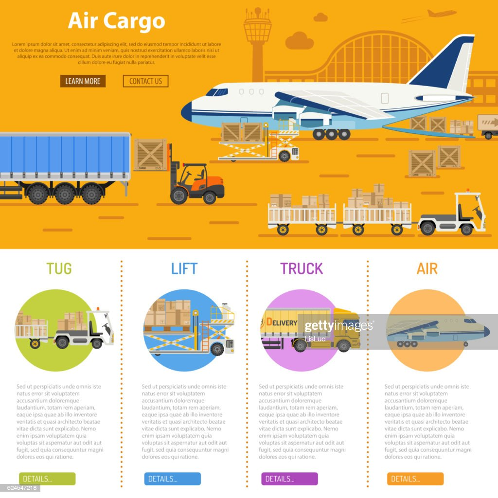 Air cargo infographics