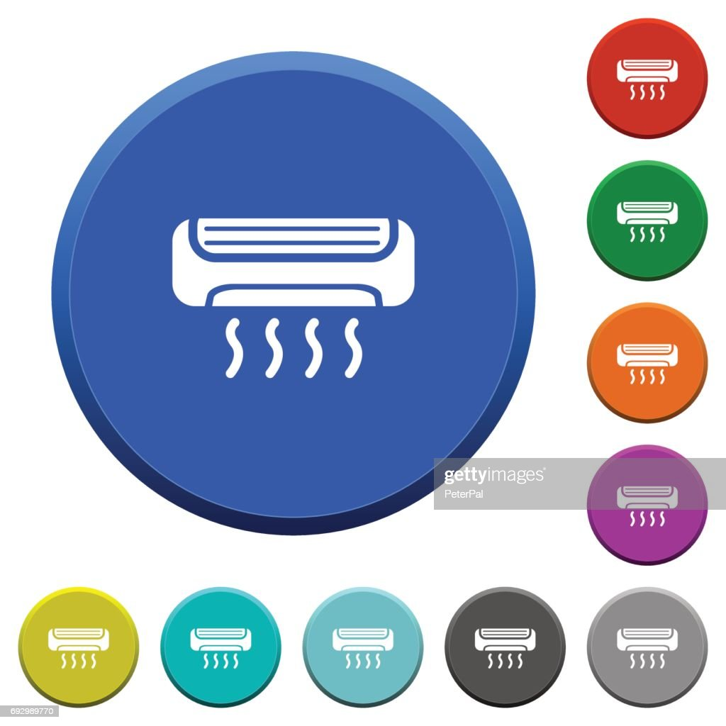 Air conditioner beveled buttons
