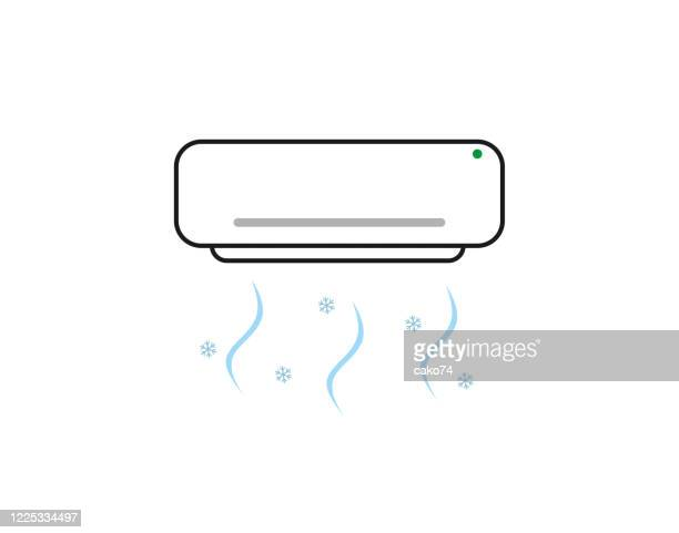 air conditioner line art illustration - air duct stock illustrations