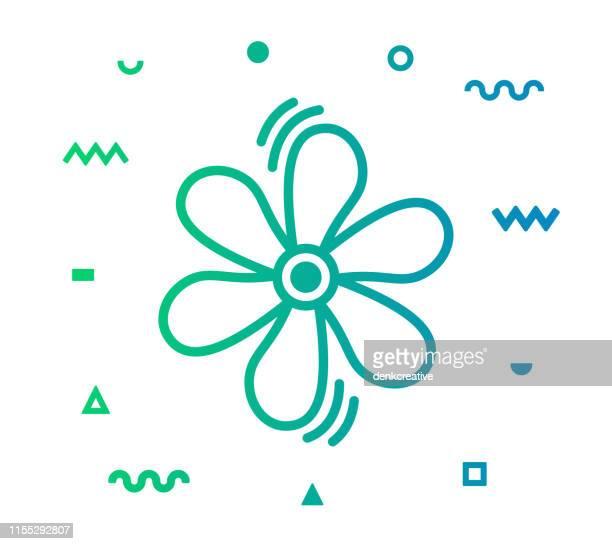 air conditioner line style icon design - medical ventilator stock illustrations, clip art, cartoons, & icons