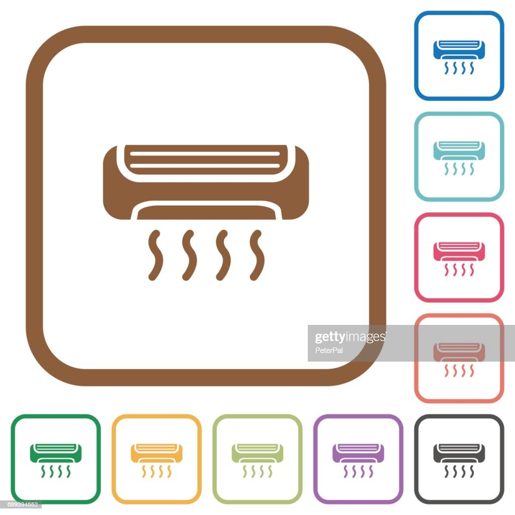 Air conditioner simple icons