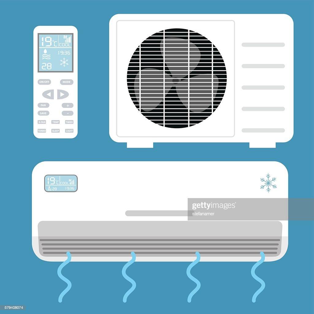 Air conditioner system . Vector illustration.