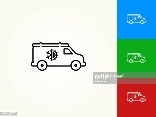 Air Conditioner Truck Black Stroke Linear Icon