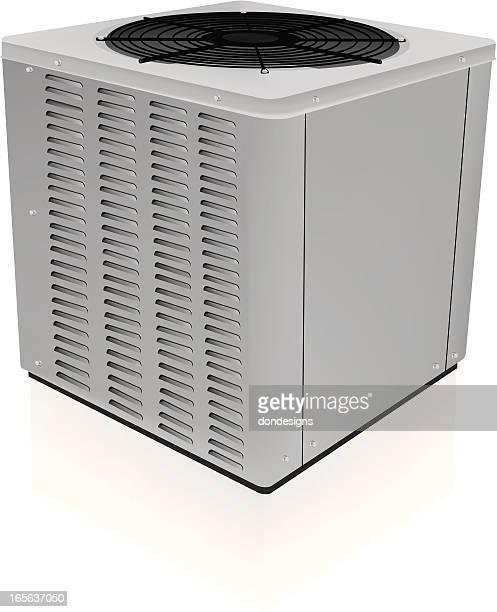 ilustraciones, imágenes clip art, dibujos animados e iconos de stock de unidad de aire acondicionado cerrado - aparato de aire acondicionado