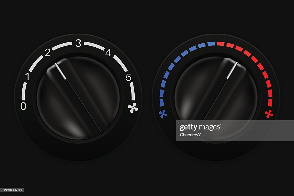 Air conditioning black selectors