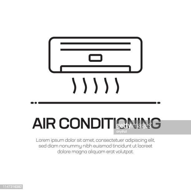 air conditioning vector line icon - simple thin line icon, premium quality design element - medical ventilator stock illustrations, clip art, cartoons, & icons