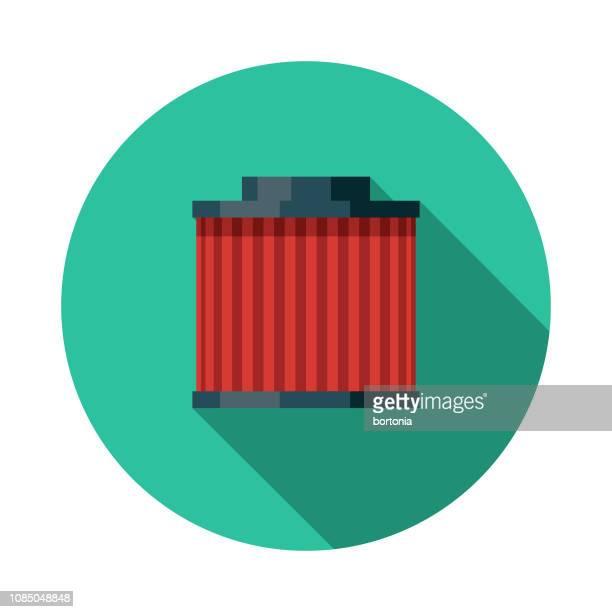 ilustraciones, imágenes clip art, dibujos animados e iconos de stock de diseño plano coche servicio ícono de filtro de aire - filtración