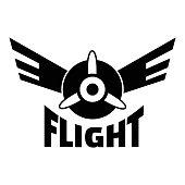 Air flight logo, simple style