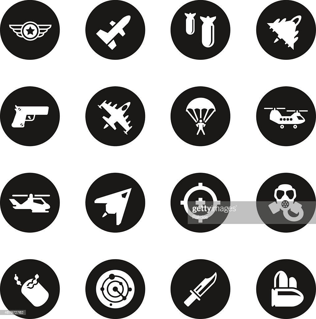 Air Force Icons - Black Circle Series