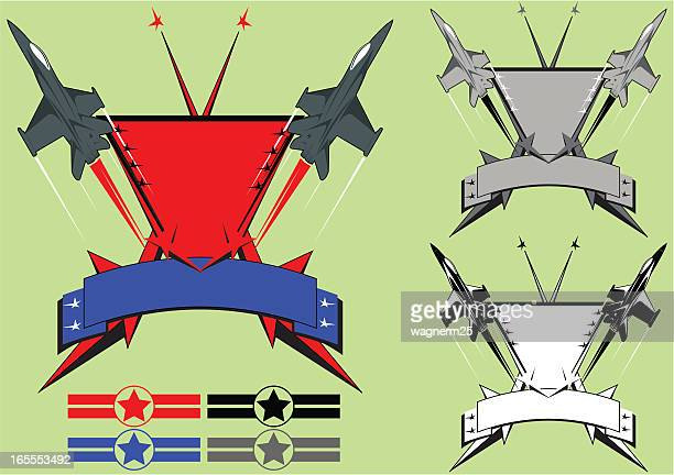 air force patch style ii - fa 18 hornet stock illustrations