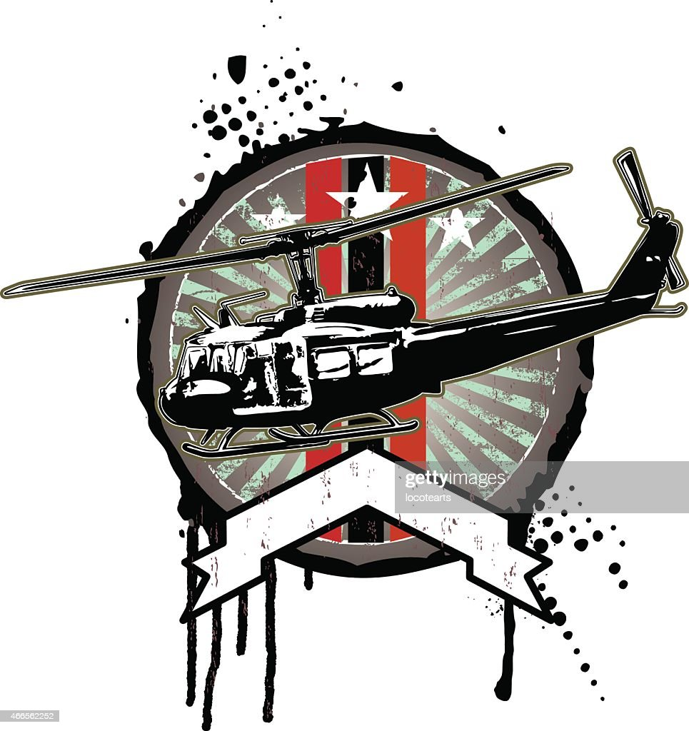 air force shield with helicopter
