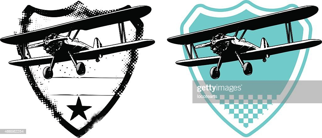air force shield with plane