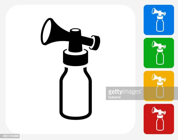 air horn pump icon flat graphic design - breast pump stock illustrations