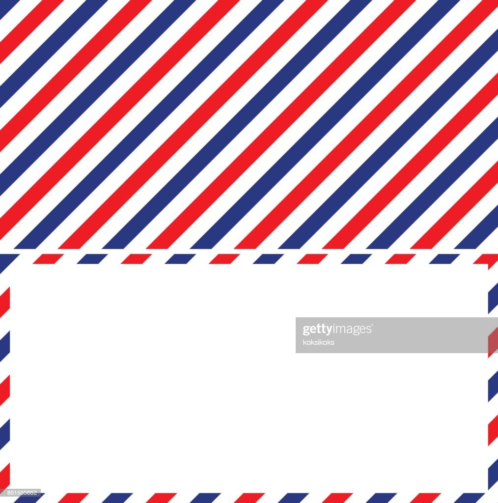air mail background and frame of the envelope of a letter
