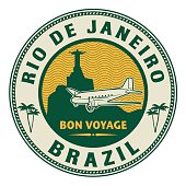 Air mail or travel stamp, Rio de Janeiro