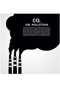 Air pollution. Factory or power plant smoke. Smoking factory concept