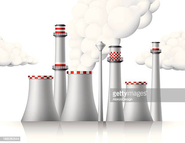 air pollution - petrochemical plant stock illustrations, clip art, cartoons, & icons