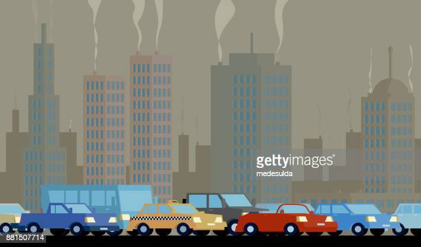 air pollution - pollution stock illustrations