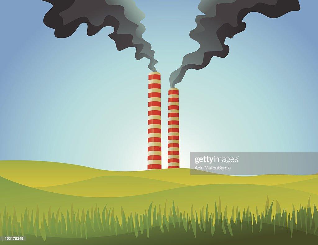 Air Pollution vs Naure : Vectorkunst