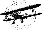 air seal with plane and grunge circle
