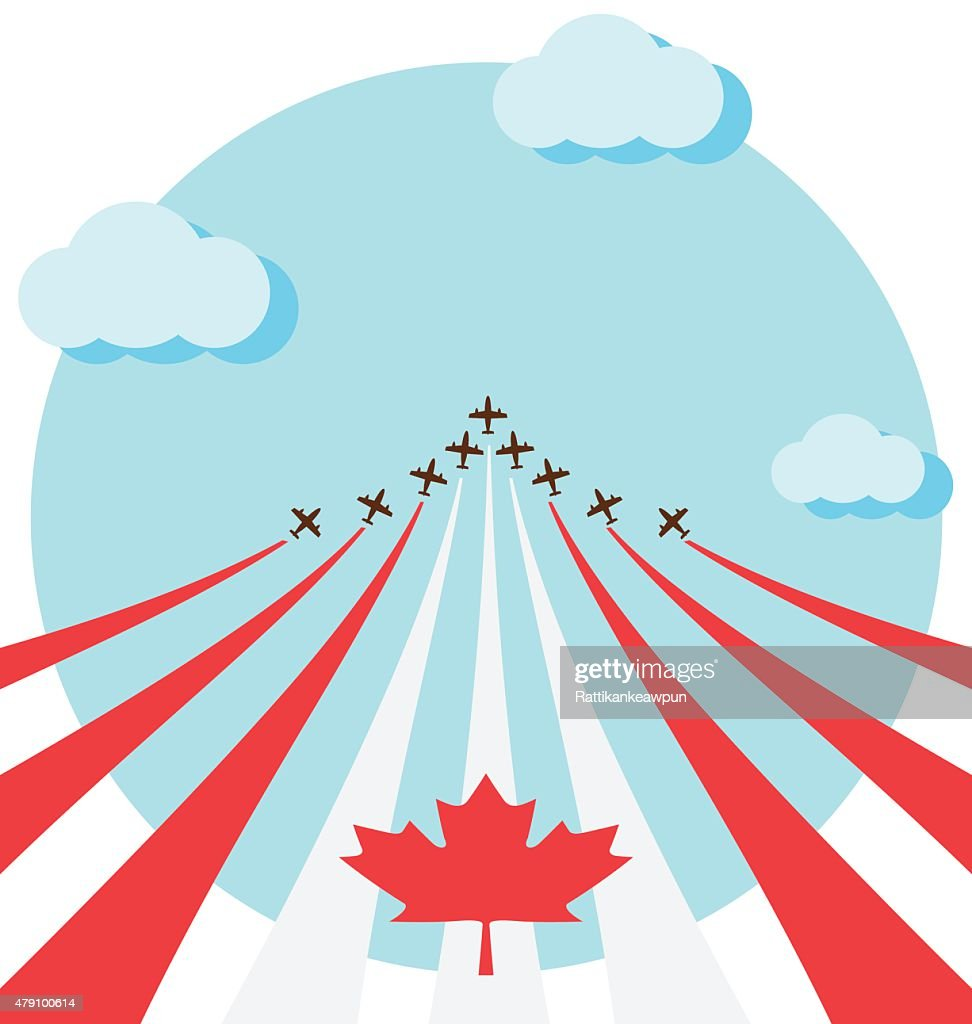 Air show for the national day of Canada