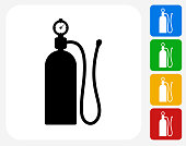 Air Tank Icon Flat Graphic Design