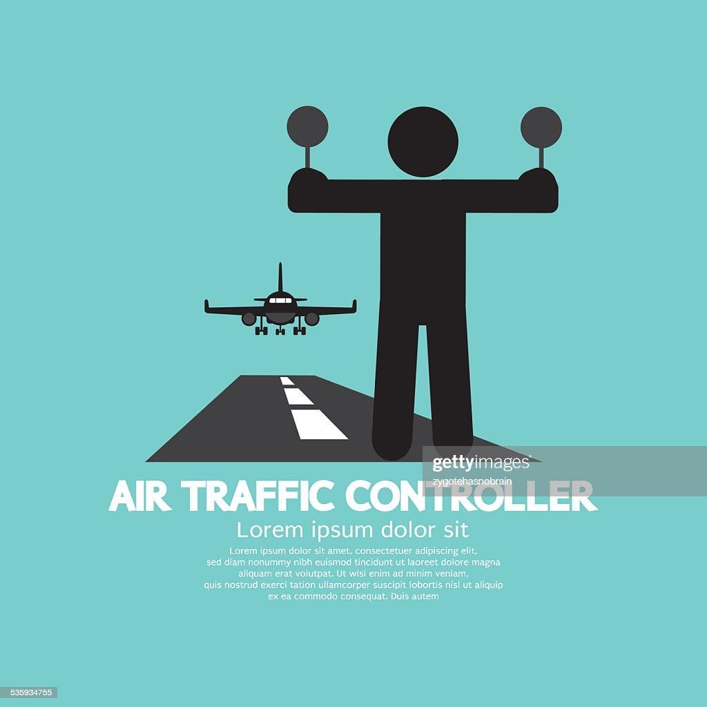 Air Traffic Controller Graphic Symbol : Vector Art