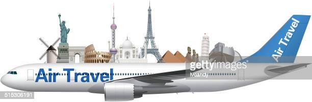 air travel - tours france stock illustrations, clip art, cartoons, & icons