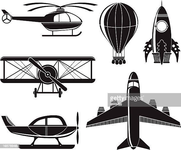 air vehicles - biplane stock illustrations, clip art, cartoons, & icons