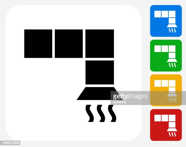 air vent icon flat graphic design - air duct stock illustrations