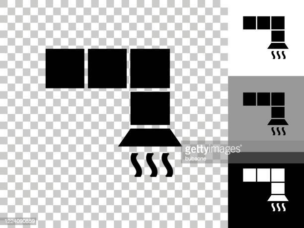 air vent icon on checkerboard transparent background - air duct stock illustrations