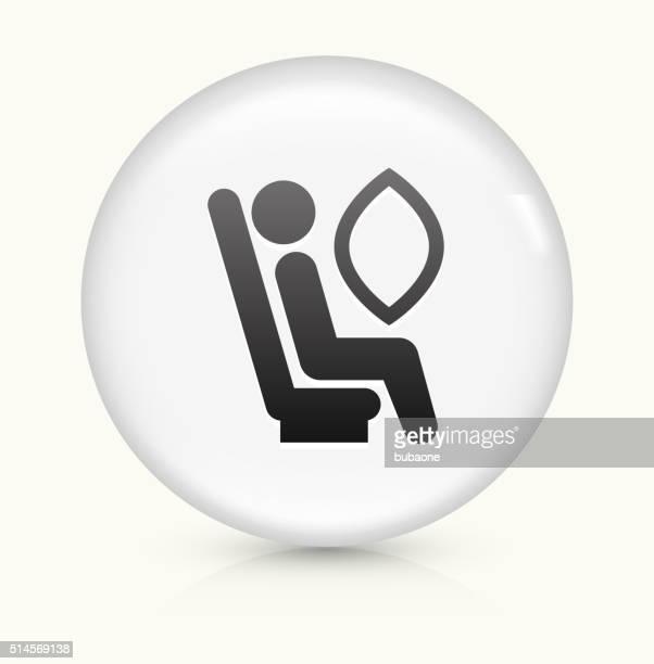 Airbag icon on white round vector button
