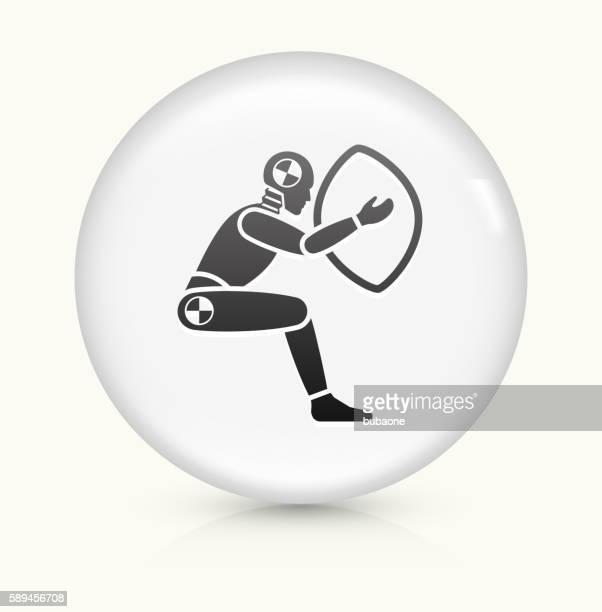 Airbag Test icon on white round vector button