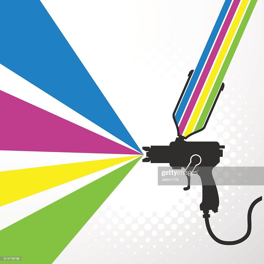 Airbrush or spray gun vector