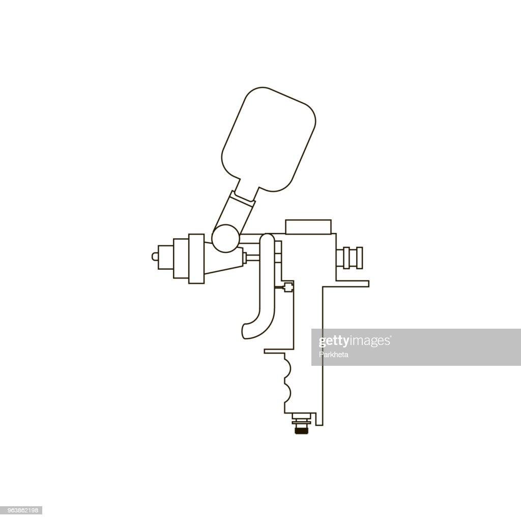 Airbrush vector illustration