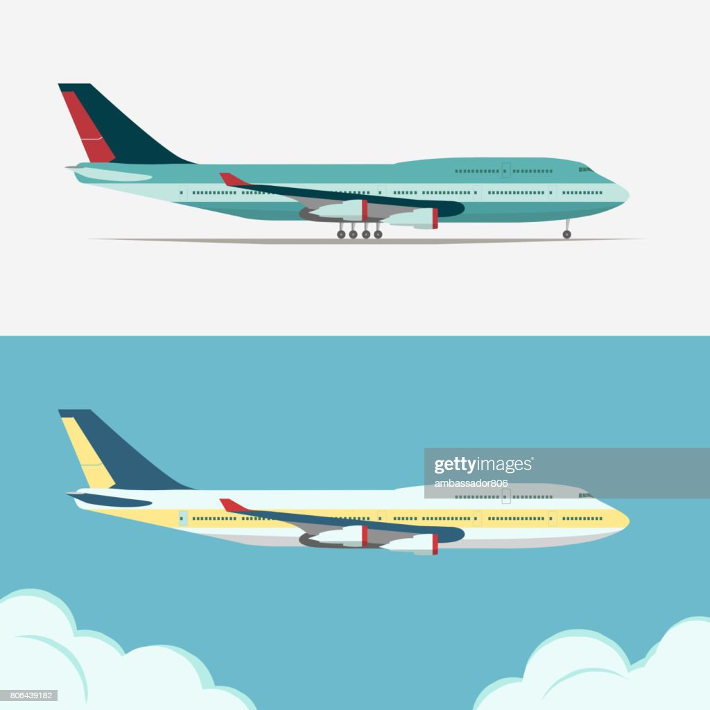 Airbus, Civil aviation plane vector