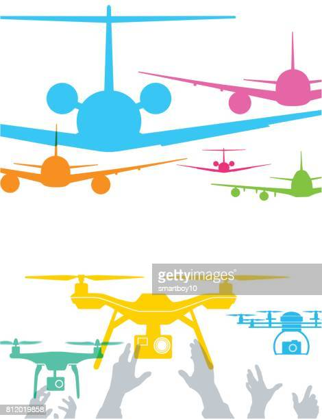 aircraft and drones - drone stock illustrations, clip art, cartoons, & icons