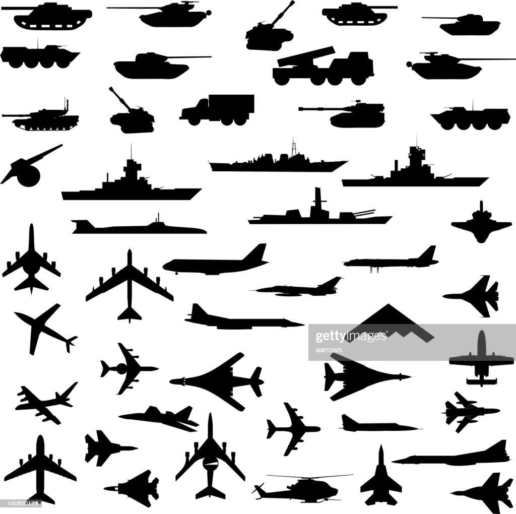 aircraft, armored ships and guns.