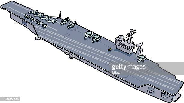 aircraft carrier - fa 18 hornet stock illustrations