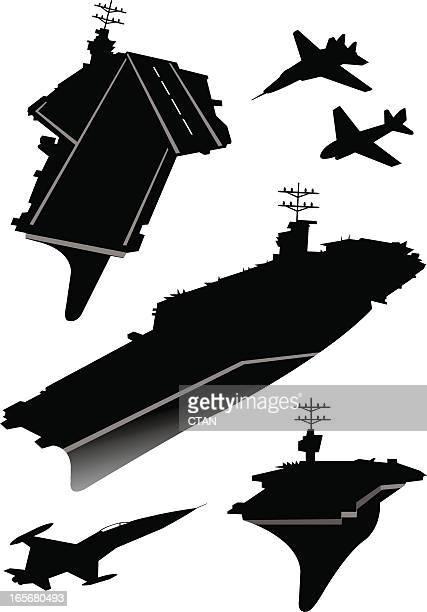 航空母艦 - 航空母艦点のイラスト素材/クリップアート素材/マンガ素材/アイコン素材