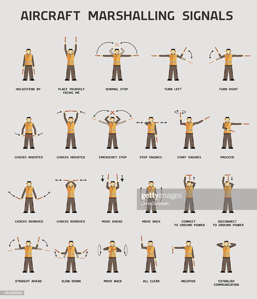 Aircraft marshalling signals