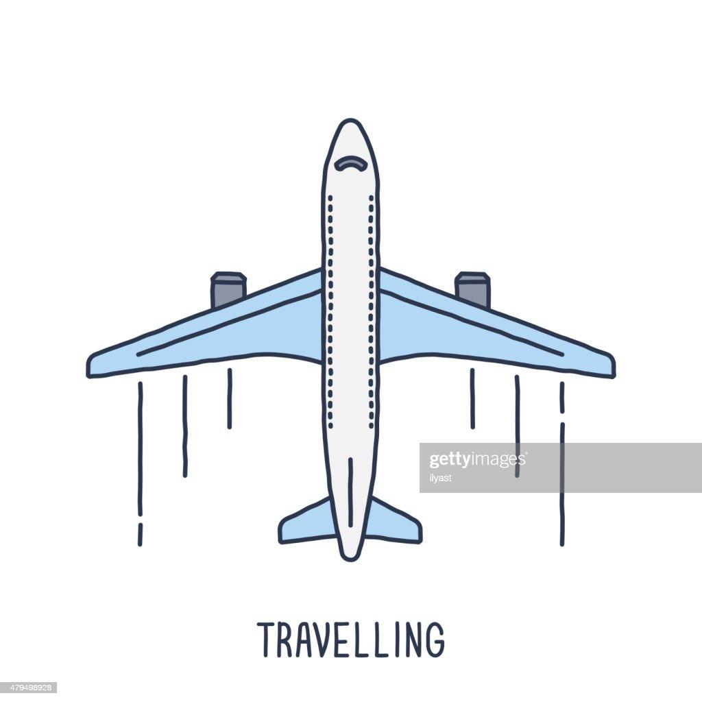 Aircraft symbol vector art getty images aircraft symbol vector art buycottarizona Gallery