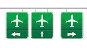 aircraft traffic sign illustration design over white