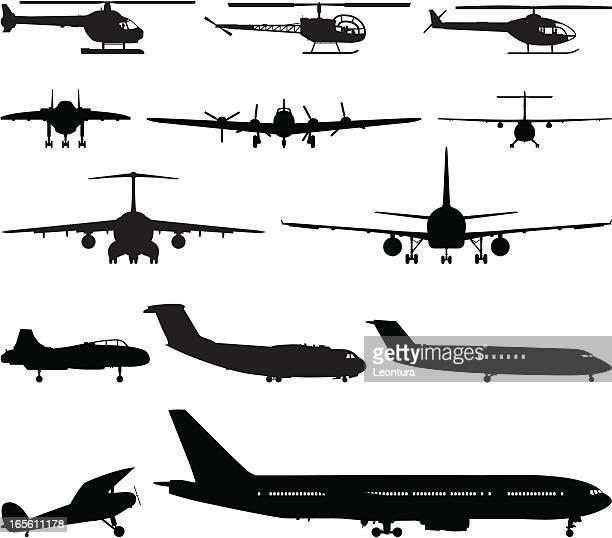 aircraft - air vehicle stock illustrations, clip art, cartoons, & icons