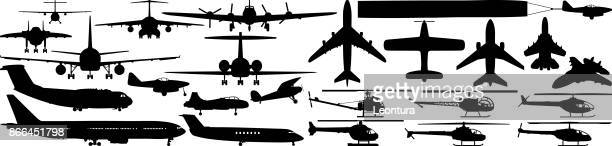 aircraft - aeroplane stock illustrations