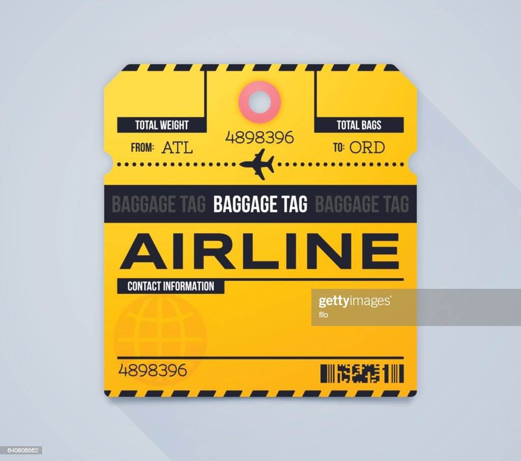 Airline Baggage Claim Tag : stock illustration